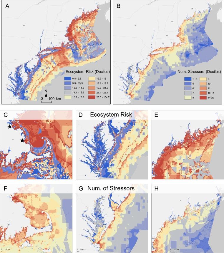 Habitat risk assessment for regional ocean planning in the U.S. Northeast and Mid-Atlantic.